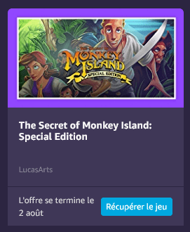 The Secret of Monkey Island: Special Edition sur Prime Gaming